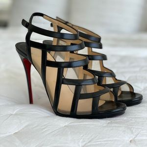Christian Louboutin Nicobar Caged Red Sole Sandal